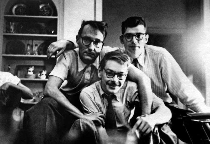 Lucien Carr with friends